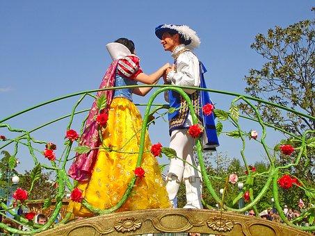 白雪姫と王子の仮装