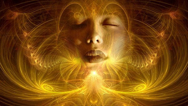 瞑想する女性のイメージ