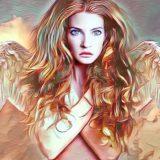 美しい天使の女性イラスト