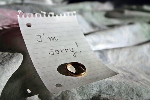 別れの手紙と指輪