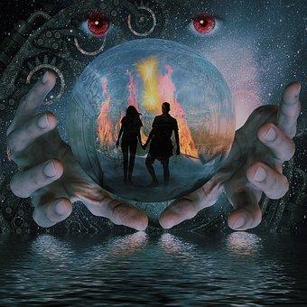 水晶玉に映る2人の未来