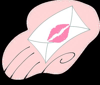 口紅のついた手紙