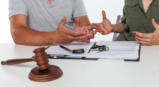離婚調停中の様子