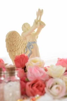 薔薇と天使の待ち受け画像