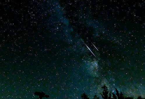 流れ星の待ち受け画像