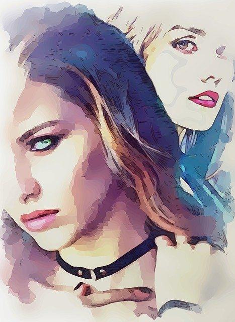 2人の女性のイラスト