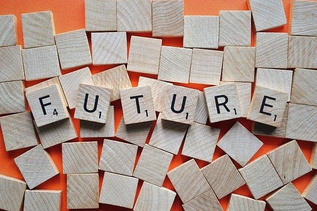 futureと書かれた積み木